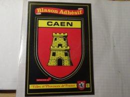 Blason écusson Adhésif Autocollant Coat Of Arms Sticker Caen - Obj. 'Souvenir De'