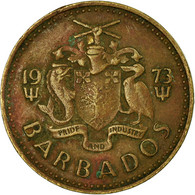 Monnaie, Barbados, 5 Cents, 1973, Franklin Mint, TB+, Laiton, KM:11 - Barbados