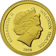 Monnaie, Îles Salomon, Elizabeth II, 5 Dollars, 2010, CIT, Proof, FDC, Or - Salomon