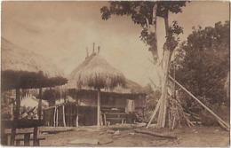 Timor Português - Casas Indigenas No Interior - Almost Big Oblique Fold Top Left - East Timor
