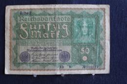 100 /  Allemagne,  [ 3] 1918-1933 : République De Weimar  Reichsbanknote  50 Mark - 1919   /  N° 980687 - 50 Mark