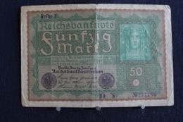 101 /  Allemagne,  [ 3] 1918-1933 : République De Weimar  Reichsbanknote  50 Mark - 1919   /  N° 237,786 - 50 Mark