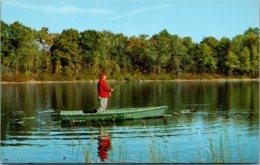 Fishing Scene Fishing From Boat - Fishing