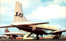S A S Scandinavian Airlines DC-6B At Los Angeles International Airport - 1946-....: Ere Moderne