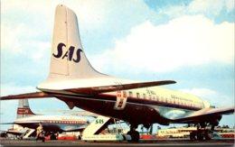 S A S Scandinavian Airlines DC-6B At Los Angeles International Airport - 1946-....: Era Moderna