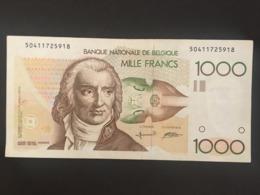 Belgium 1000 Francs 1980  Pick 144 Rare RARE SIGN A.Gretry  Ref 5918 - [ 2] 1831-... : Koninkrijk België
