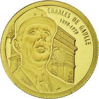 Monnaie, Benin, Charles De Gaulle, 1500 Francs CFA, 2010, FDC, Or - Benin