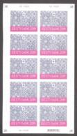 Felt Christmas Stamp 2019 Estonia MNH Sheet Of 10  Mi 968 - Estonia