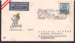 Österreich - 1959 - FDC - Sonderstempel - Christkindl - 1945-60 Briefe U. Dokumente