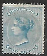 Mauritius  1863  Sc#33    2p  Victoria  Probably MNG   2016 Scott Value $100 - Mauritius (...-1967)
