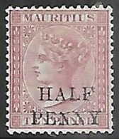 Mauritius  1877   Sc#47    1/2p     MH   2016 Scott Value $10 - Mauritius (...-1967)
