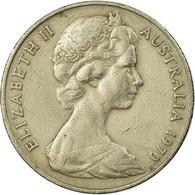 Monnaie, Australie, Elizabeth II, 20 Cents, 1970, Melbourne, TB+, Copper-nickel - Victoria