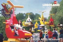 I Flew At Legoland Lego Helicopter Windsor Plane Postcard - Cartoline