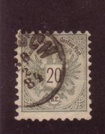 AUTRICHE 1883  YVERT N°44  OBLITERE - 1850-1918 Imperium