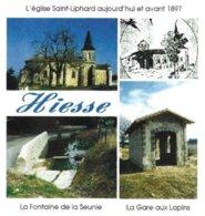 HIESSE CHARENTE, EGLISE SAINT LIPHARD, FONTAINE DE LA SEUNIE, LA GARE AUX LAPINS, FLAMME ILLUSTREE CONFOLENS, PAP 2008 - Churches & Cathedrals