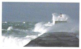 PHARE SOUS LA TEMPETE, PAP ENTIER POSTAL, DOUBLE FRAPPE POUR LA FLAMME 2011, VOIR LE SCANNER - Lighthouses