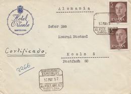 Spanien: 1957: Barcelona Nach Köln - Espagne