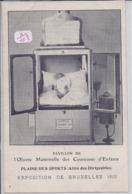 BRUXELLES- EXPOSITION UNIVERSELLE 1910- COUVEUSE D ENFANTS FABRIQUEE PAR ALEXANDRE LION - Exposiciones Universales