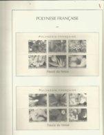 FEUILLES  LEUCHTTURM (pochettes)  POLYNESIE FRANCAISE  Du Début à 2004    Port Gratuit  Possiblité Avec La Reliure - Sellos