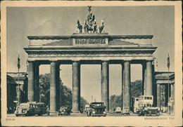 Ansichtskarte Mitte-Berlin Brandenburger Tor Bus Und Auto 1941 - Porte De Brandebourg