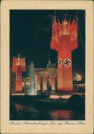 Mitte-Berlin Brandenburger Tor - Propaganda-Schmuck Nacht Color 1940 - Brandenburger Tor