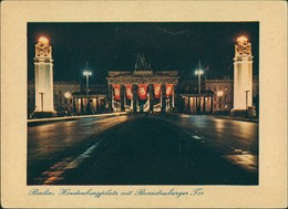 Mitte-Berlin Brandenburger Tor, Hindenburgplatz - Propganda -Schmuck Color 1940 - Porte De Brandebourg