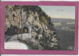 LES RASSES .- CHEMIN DE FER YVERDON-ST-CROIX - TUNNEL DE COVATANNAZ  ( Train) Cachet Ambulant - VD Vaud
