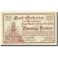 Billet, Autriche, Weyer Markt, 20 Heller, Monument, 1921 SPL Mehl:FS 1175 - Autriche