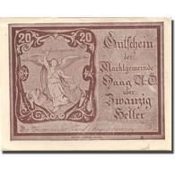 Billet, Autriche, Haag, 20 Heller, Personnage 1920-12-31, SPL Mehl:FS 318IVb - Autriche