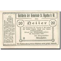 Billet, Autriche, St Agatha, 20 Heller, Grange 1920-09-30, SPL Mehl:FS 877Ic - Autriche