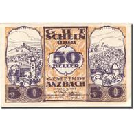 Billet, Autriche, Anzbach, 50 Heller, Village 1921-01-15, SUP Mehl:FS 48IIBe - Autriche