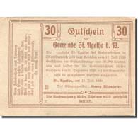 Billet, Autriche, St Agatha, 30 Heller, Ferme 1920-07-11, SPL Mehl:FS 877Ia - Autriche