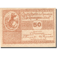 Billet, Autriche, St Georgen, 50 Heller, Agriculture, 1920 SPL Mehl:FS 885I - Autriche
