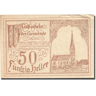Billet, Autriche, Weisskirchen, 50 Heller, Eglise, 1920 SPL Mehl:FS 1160 - Autriche