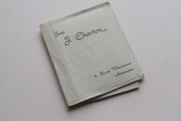 Mapje, Formaat 7,5 X 8,5 Cm. FOTO J. CHARTON Korte Vlierstraat 9 - ANTWERPEN ( Zie / Voir Photo ) ! - Supplies And Equipment