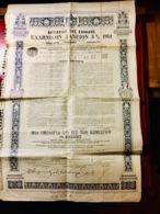 ROYAUME  De  GRÈCE  EMPRUNT  HELLÉNIQUE  5%  1914 ------Obligation  De  500 Frs - Actions & Titres