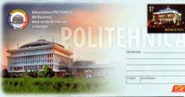 Romania Postal Stationery / University - Architektur