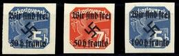 1938, Sudetenland Rumburg, 25+26+28, ** - Sudetenland