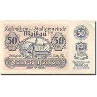 Billet, Autriche, Maissau, 50 Heller, Château 1921-03-31, SPL Mehl:FS 573g - Autriche