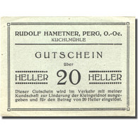 Billet, Autriche, Perg, 20 Heller, Ferme 1, SPL Vert Mehl:FS 1243 - Autriche