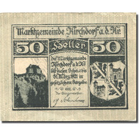 Billet, Autriche, Kirchdorf A/d Krems, 50 Heller, Blason, 1921 SUP Mehl:FS445Ib - Autriche