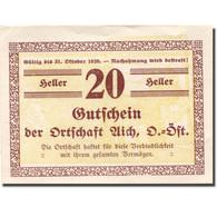Billet, Autriche, Aich, 20 Heller, Valeur Faciale, SPL, Mehl:FS 10a - Autriche