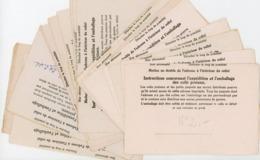 ARCHIVE SAUVIGNAT 1943/44 24 X INSTRUCTION EXP COLIS PRISONNIER STALAG IIIB = FURSTENBERG (BERLIN) AVEC ANNOTATION ET NU - Poststempel (Briefe)