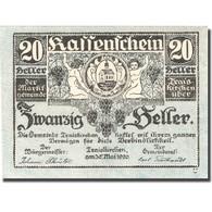 Billet, Autriche, Traiskirchen, 20 Heller, Blason, 1920 SPL  Mehl:FS 1077a - Austria