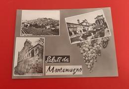Cartolina Saluti Da Montemagno - Panorama Centrale - Piazza E Chiesa - 1965 - Asti