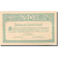 Billet, Autriche, Aurach, 20 Heller, Village 1, 1920-04-27, SPL Vert Mehl:FS 68b - Austria