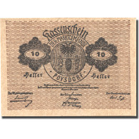 Billet, Autriche, Poysdorf, 10 Heller, Blason 1920-12-31, SPL Mehl:FS 776a1 - Austria