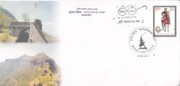 India  2019  Purandar Fort  Pune  Special Cover  # 23399   C&D   D Inde  Indien - Schlösser U. Burgen