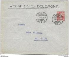 """32 - 15 - Entier Postal  Privé """"Wenger Delémont"""" Cachets Ambulant 1908 - Postwaardestukken"""