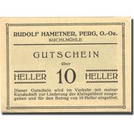 Billet, Autriche, Perg, 10 Heller, Ferme, SPL Jaune Mehl:FS 1243 - Autriche